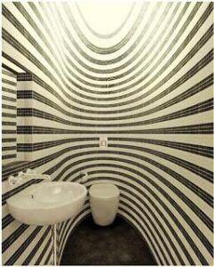 toilet met streepjes