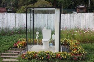 wc in de tuin