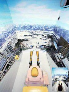 toilet op berghelling